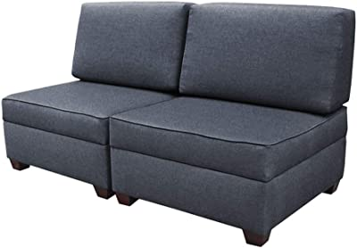 """duobed Sofa Bed 36"""" Storage Ottomans, 36 Inch, Blue"""