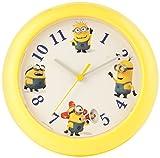 Minions Reloj de Pared, Amarillo, 25 x 25 x 2.2 cm