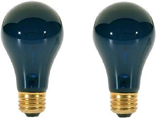 Satco S3920 75 Watt A19 Incandescent Light Bulb, Black Light (75 Wt, 2-Pack)