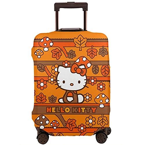 Hello Kitty - Protector de maleta de viaje único, lavable, bonito e interesante reconocimiento elástico, White, S,