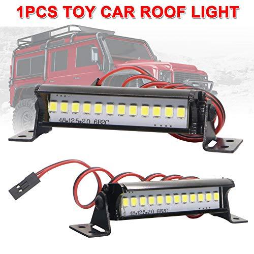 lzndeal Accessoires de Lampe de Toit à Barres Lumineuses Super Lumineuses 12 LED pour Chenille TRX4 SCX10 KM2