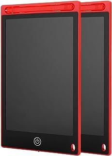 awstroe Tablero de Dibujo, Tablero de Escritura LCD con Figura electrónica de 8.5 Pulgadas, 2 Piezas para Listas de tarea...