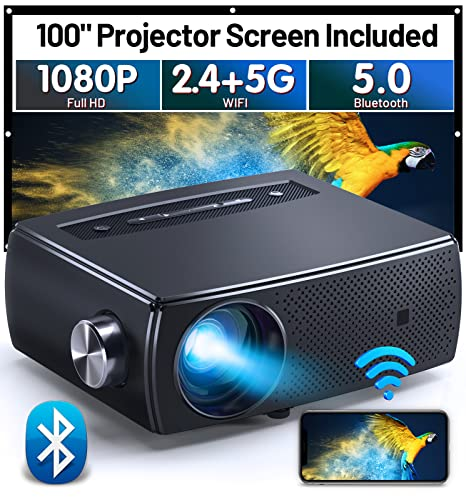 Mini Projector Bluetooth, CLOKOWE 9…