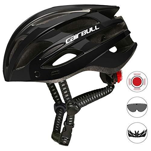 DIOI LED-licht valhelm, ultralight fietshelm achter met lensbeschermingsglas outdoor sport veiligheid hoed voor mountainbike fietsen paardrijden