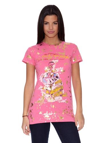 Ed Hardy Camiseta Women´S S/S Crewneck tee Rosa L