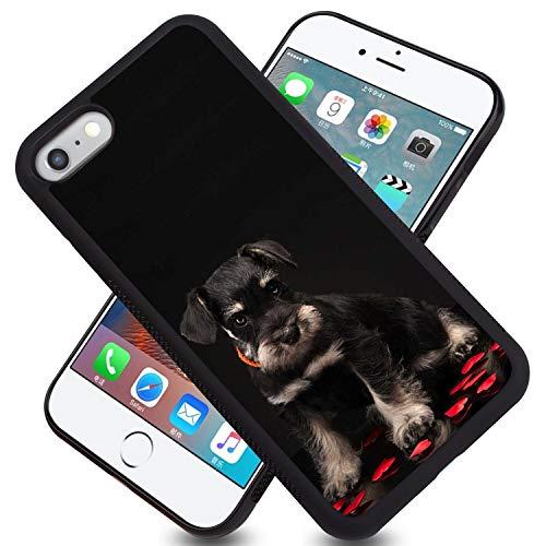 FAUNOW Carcasa para iPhone 6/6S Plus, diseño de neumáticos Schnauzer en miniatura, diseño de absorción de golpes
