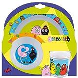 STOR 43795 Barbapapà Set Pappa 3 Pezzi con Ciotola, Piatto, Tazza, Multicolore