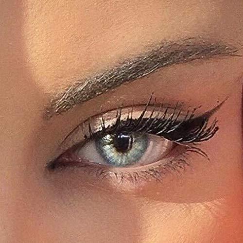 Farbige Kontaktlinsen ELFENWALD die schönsten natürlichen Farblinsen für umwerfend verführerische Augen - ohne Stärke - mit Aufbewahrungsbehälter (Jasmin Grau/Quartz)
