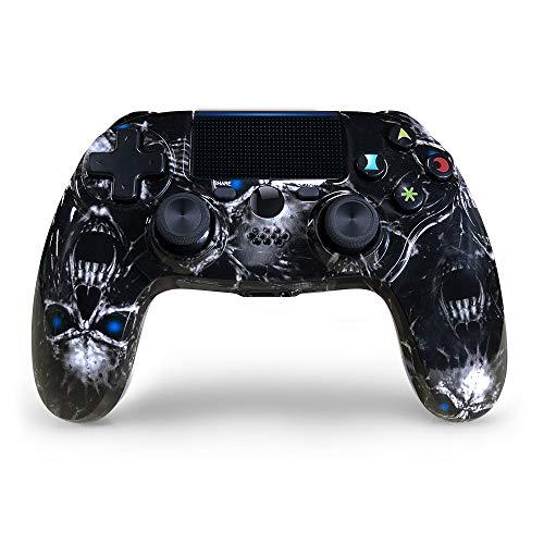 JL future PS4 Controller Wireless, Neu Schädelstil Dual Shock Hohe Präzision Gaming Controller Für Playstation 4/Slim/Pro (Mitternachtsgrün)