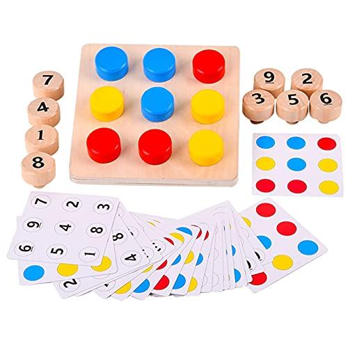 EMFGJ Tornillo de juguete educativo temprano de madera juguete educativo temprano pernos de color a juego tablero divertido tornillo a juego juguete para niños