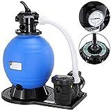 Monzana Depuradora Bomba de Filtro de Arena 15.900 l/h 600V para filtración Agua Piscinas Limpiador de impurezas