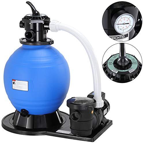 Monzana Depuradora Bomba de Filtro de Arena 15.900 l/h 600V para Filtrar Agua Limpiador de Piscinas