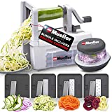 Mueller Pro Multi-Blade Spiralizer Vegetable Slicer Zester Chopper Dicer, ProQuality, Only Model to Make Round Veggie Pasta, Not Flat Julienne Noodles. Bundle Includes our Innovative Rolling Chopper