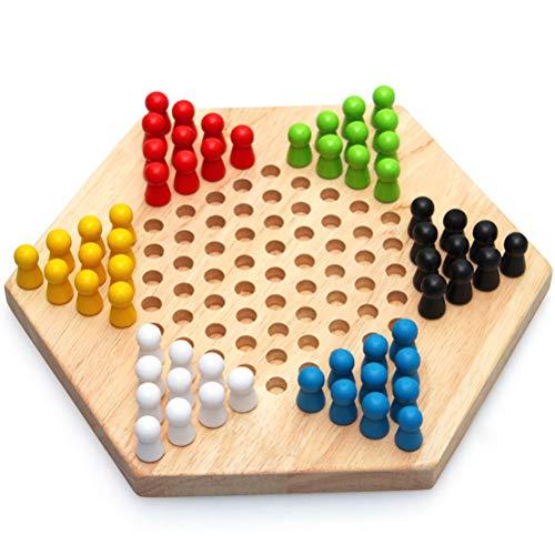 Brettspiele Traditionelle Sechseck Holz Chinese Reisespiel Strategiespiel Familienspiel Eltern Kind Brettspiel Familienspiel Set