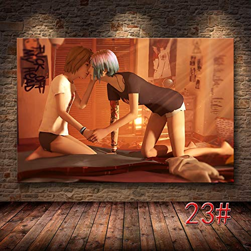 sakkdaull Adult Digital New Paint-Color 40x50cm Life Is Strange Game Scroll ve paperLinen Canvas-DIY Digital Painting on Digital Kit
