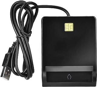 Smart kortläsare allmän åtkomst CAC kortläsare adapter SIM/ATM/IC/ID bankkortläsare USB-adapter svart