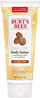 Burt's Bees Fragrance Free Shea Butter and Vitamin E Body Lotion - 6 Ounces