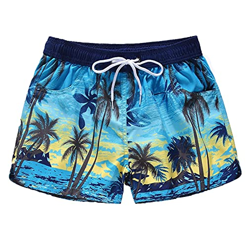 Coralup Pantalones cortos de playa para adultos, para hombres, mujeres, niños, niñas, trajes de baño, pantalones de surf, 100-190 cm