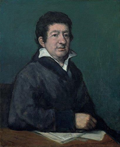 Spiffing Prints Francisco De Goya - Portrait of The Poet Moratín - Small - Matte - Black Frame