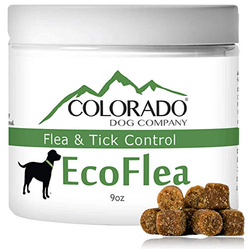 EcoFlea by ColoradoDog - 110 to 120 Count All Natural Chewable Dog Treats for Flea and Tick Treatment and Prevention - No Chemicals, No Mess, No Collars