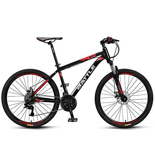 Xiaoyue 26-Zoll-Mountainbikes, Junge Damen 27-Gang Hardtail Mountainbike, Anti-Rutsch-Alles Terrain Gebirgsfahrrad mit Doppelscheibenbremse, Schwarz lalay