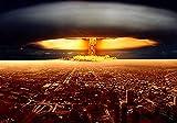 Explosión de bomba nuclear 1000 piezas de rompecabezas de madera para adultos rompecabezas militar rompecabezas educativo actividad entre padres e hijos-75x50cm