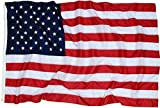 5x8 Ft American Flag | 100% Made in USA | US Flag in Heavy Duty Outdoor Nylon - UV Fade Resistant - Premium Embroidered Stars, Sewn Stripes, and Brass Grommets (5 x 8 Foot)
