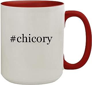 #chicory - 15oz Hashtag Colored Inner & Handle Ceramic Coffee Mug, Red