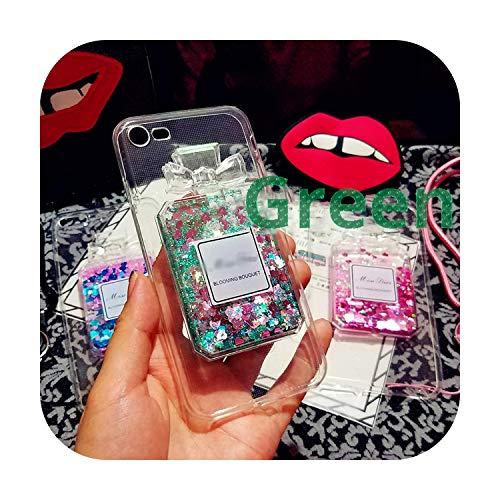 Funda de botella de perfume líquido 3D para iPhone 8, 7, 6S, 6 Plus y 5 5S TPU carcasa de silicona para iPhone 11 Pro XS Max X XR Funda Coque-Ls10 Green-for iPhone 11