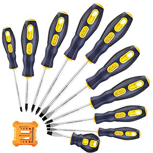 Precision-Magnetic-Screwdriver-Tool-Set-Phillips-Flat-Head Tips Screw Driver Small Flathead Non-Slip For Repair Home Craft Improvement
