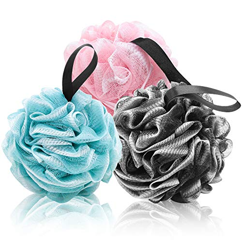 Shower Puff or Bath Sponge with Qualities of Body Scrubber Loofah Sponge....