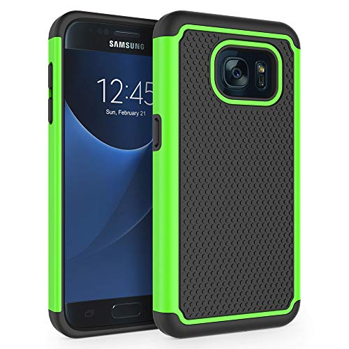 "Galaxy S7 Case, SYONER [Shockproof] Defender Protective Phone Case Cover for Samsung Galaxy S7 (5.1"", 2016) [Green]"