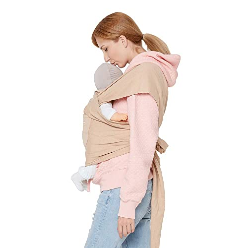Baby Wrap Carrier ISHOWDEAL Soft Lightweight Cotton Baby Wraps and Slings Stretchy Baby Slings Breathable Infant Carrier for Infant Newborn Kids and Toddlers