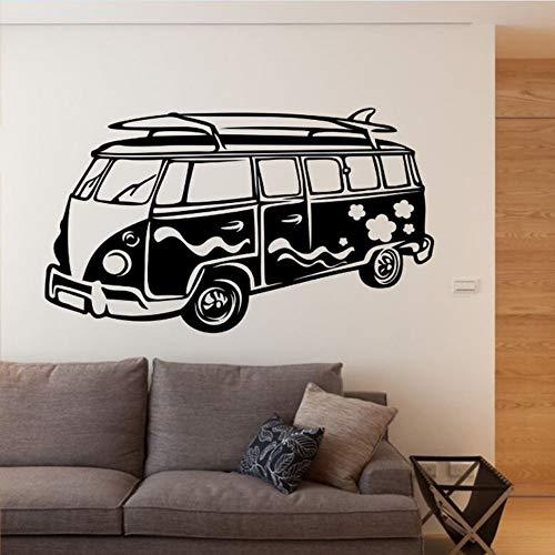 Zxdcd Afneembare Muursticker Camper Muursticker Reizen Bus Muurschildering Woonkamer Behang Vinyl Auto Sticker Decor 98x57cm