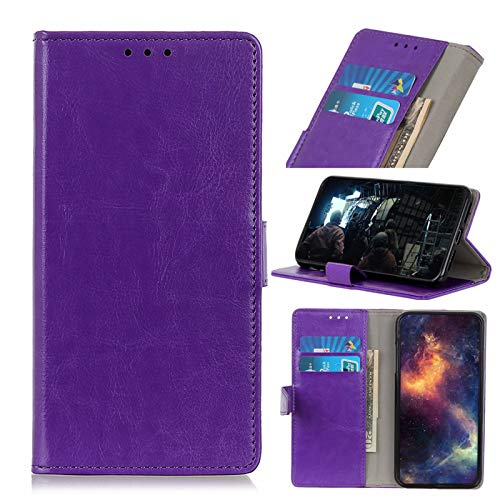 ANWEN for Huawei Mate 40 Pro Case,Premium PU Magnetic Leather Flip Wallet Case with [Card Slots] [Kickstand Feature]-Purple