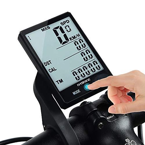 Wisdomx Ordenador de Bicicleta de 2,8in, Velocímetro de Bicicleta con Cronómetro/Velocidad Promedio/Tiempo de Viaje/Odómetro de Grabación de Distancia, Computadora de Bicicleta con Luz de Fondo LED