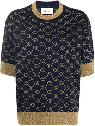Luxury Fashion | Gucci Dames 605920XKAHT4597 Donkerblauw Wol Truien | Lente-zomer 20