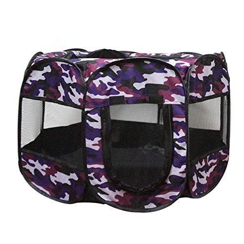 PIONIN Faltbare Haustier Camping-Zelt, Multifunktions-Spielraum-Zelt für Haustiere Garten Resistant Haustier-Haus Small Medium Hund Sonnenschutz Folding Welpen Indoor Nest im Freien