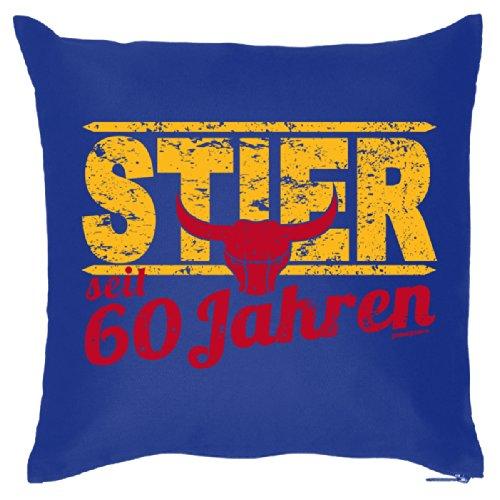 Super leuk sofakussen decoratief kussen voor het verjaardagskind - 60 jaar stier - sterrenbeeld/Goodman design