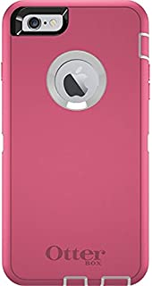 Rugged Protection OtterBox Defender Case for iPhone 6 Plus, 6s Plus - Bulk Packaging - (White/Hibiscus Pink)