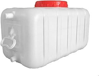 Grand seau de stockage de l'eau, réservoir d'eau en plastique avec robinet, seau portable, fût de vin, baril chimique indu...