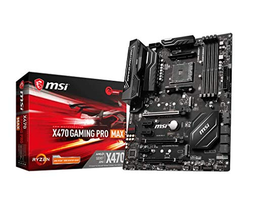 MSI X470 GAMING PRO MAX AMD AM4 DDR4 m.2 USB 3.2 Gen 2 HDMI ATX Gaming Motherboard