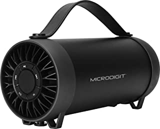 Microdigit Bluetooh Portable Drum Speaker for Multi, Black - M0059RT