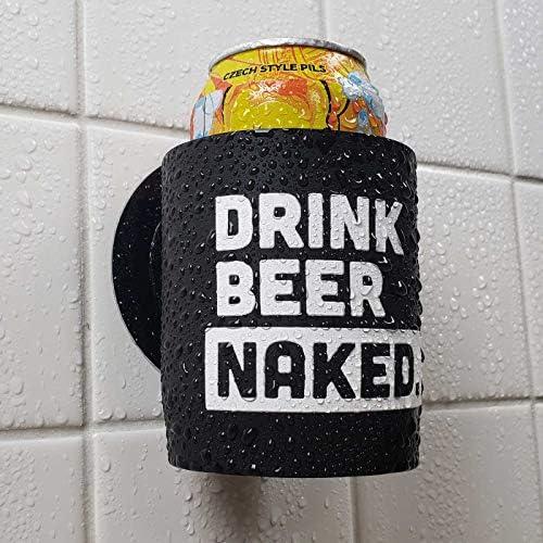 Drink Beer Naked Shower Beer Holder for in Shower Use Keeps Beer Cold and Hands Free product image