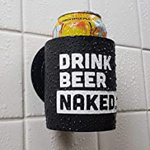 Drink Beer Naked - Shower Beer Holder for in Shower Use, Keeps Beer Cold and Hands Free