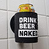 Drink Beer Naked - Shower Beer Holder for in Shower Use, Keeps Beer Cold and Hands Free