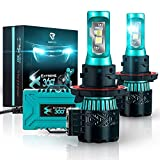 Glowteck H13/9008 LED Headlight Bulbs Conversion Kit - Cree XHP50 Chip 12000 Lumens/Pair 68 Watt 6500 Kelvin