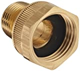 Dixon Valve & Coupling BMA974 Brass Fitting, Adapter, 3/4' GHT Female x 1/2' NPTF Male