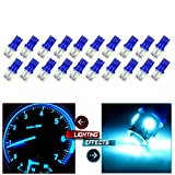 95 chevy camaro dashboard - cciyu 194 Extremely Bright LED Bulbs 5-5050-SMD Dashboard Gauge Light Speedometer Odometer Tachometer LED light fit for 2013 2014 2015 Infiniti JX35 Wedge T10 168 2825 W5W Ice Blue Pack of 20