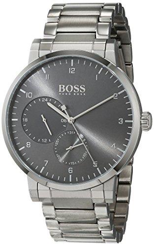 Hugo Boss Unisex Multi-wijzerplaat kwarts horloge met roestvrij stalen armband 1513596